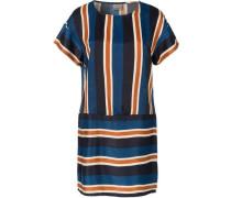 Kleid blau / orange / schwarz