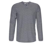 Langarmshirt 'Manly' blau / weiß