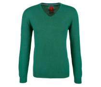 Pullover mit V-Ausschnitt grün