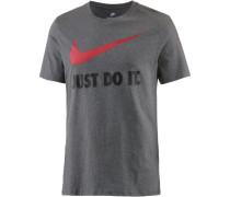 T-Shirt grau / rot / schwarz