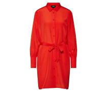 Kleid 'dotteo L/S Shirt Dress' feuerrot
