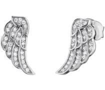 Paar Ohrstecker 'Flügel Ere-Lilwing-Zi-St' silber