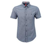 Slim: Hemd mit Strukturmuster blau