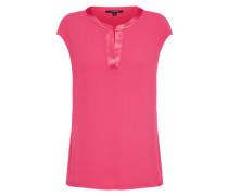 Kragenlose Bluse pink