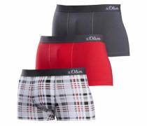 Bodywear Boxer (3 Stück) grau / rot / weiß