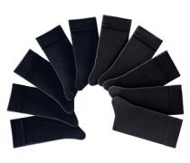 Unisex-Socken 10 Paar schwarz