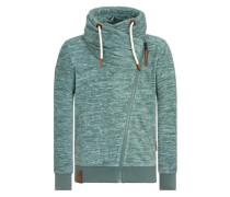 Male Zipped Jacket 'Gnadenlos durchgerattert' grün