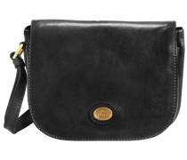 Leder Umhängetasche Flap Bag 'Basic'
