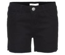 Slim-Jeansshorts schwarz