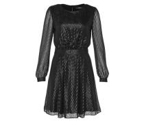 Kleid aus transparentem Glanzgewebe schwarz