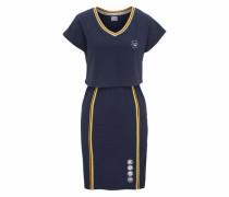 Shirtkleid navy / gelb