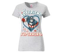"T-Shirt ""Captain America"" weiß"