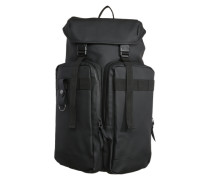 Rucksack 'Utility Bag' mit großen Fronttaschen schwarz