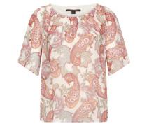Chiffon-Bluse mit Paisley-Muster pink