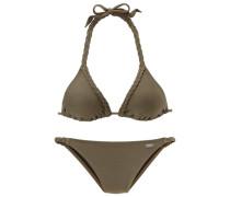 Triangel-Bikini oliv