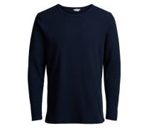 Texturiertes T-Shirt blau