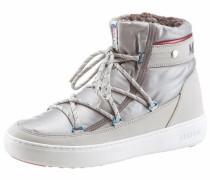 Boots beige / blau / rot / silber