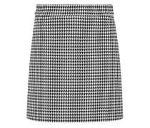 Rock mit Hahnentritt-Muster schwarz / weiß