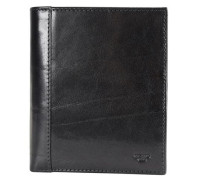 Bern Geldbörse Leder 11 cm schwarz