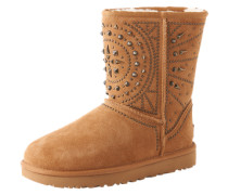 Boots mit Ziernieten 'Flore deco studs' braun