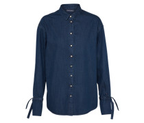 Bluse 'W4 LS Maxime' blau