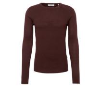 Pullover 'Knit - Gyden' weinrot