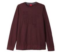 Flammgarn-Shirt mit Schriftapplikation rot