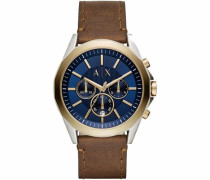 Chronograph 'ax2612' blau / braun / gold / silber