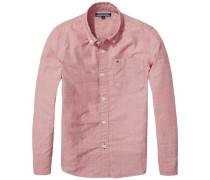 Hemd 'ame DG Thdm Basic Solid Shirt L/s' rot
