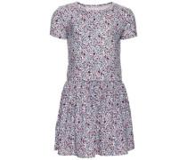 Kleid mit kurzen Ärmeln 'nitebba' beere / weiß