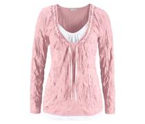 2-in-1-Langarmshirt pink