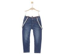 'Pelle' Jeans mit Hosenträgern blue denim