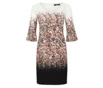 Blusenkleid mit Allover-Print beige / mischfarben / schwarz