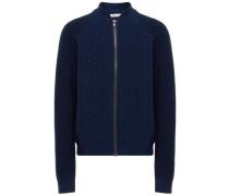 Langärmeliger Strick-Cardigan blau