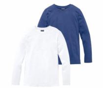 Langarmshirts royalblau / weiß