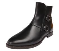Chelsea Boots mit Zierschnallen schwarz