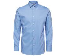 Formelles Regular Fit -Langarmhemd blau