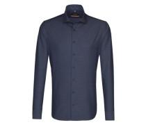 City-Hemd ' Slim ' blau