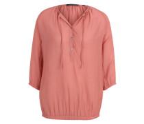Bluse mit halber Knopfleiste orange / rot