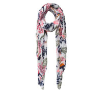 Langer Schal mischfarben / weiß