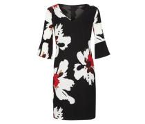 Blusenkleid mit Allover-Print rot / schwarz / weiß