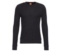 Sweatshirt aus Struktur-Stoff 'Wipe' dunkelblau