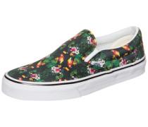 Classic Slip-On Sneaker grau / grün