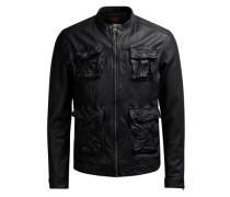 Leder-Lederjacke schwarz