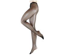 Netzstrumpfhose 'Autumn BasketTI' schwarz
