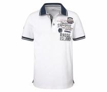 Poloshirt 'Piqué Qualität' weiß