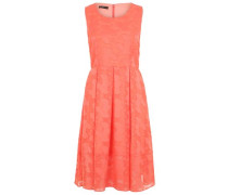 Kleid Rundhals koralle
