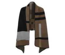 Weste im Blanket-Stil braun / grau / schwarz