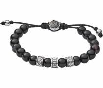 Edelstahlarmband 'beads Dx1101040' grau