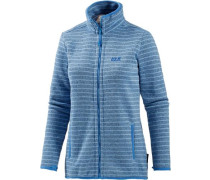 Fleecejacke 'Caribou Striped' hellblau